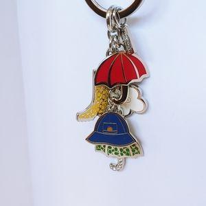 Authentic multicolor (Let It Rain) metal key chain